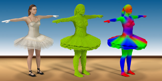 Voxel Heat Diffuse Skinning